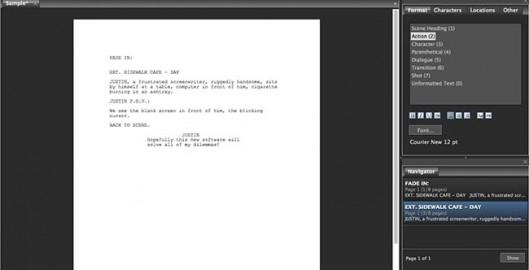 Screenwriting-Software