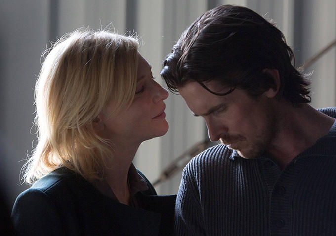 Christian Bale and Cate Blancett in Knight of Cups