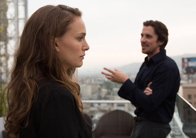 Natalie Portman and Christian Bale in Knight of Cups